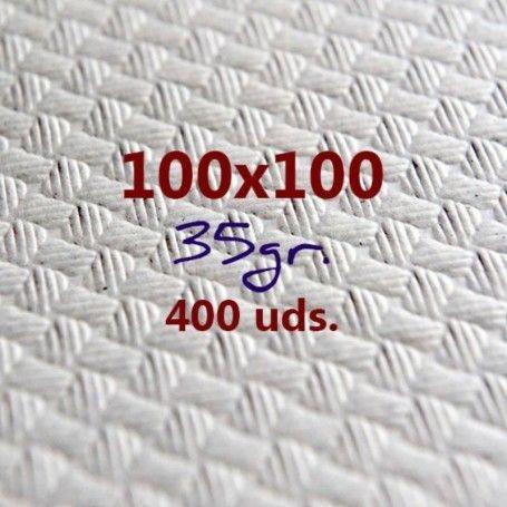 MANTEL PAPEL BLANCO 100X100CM 400 UNIDADES