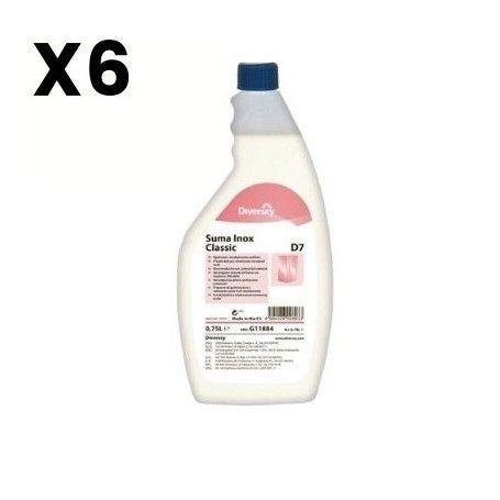 ABRILLANTADOR ACERO INOXIDABLE SUMA INOX CLASSIC D7 750ML 6 UNIDADES